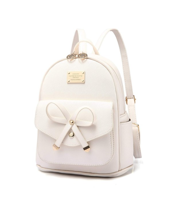 PINCNEL Bowknot Leather Backpack Shoulder