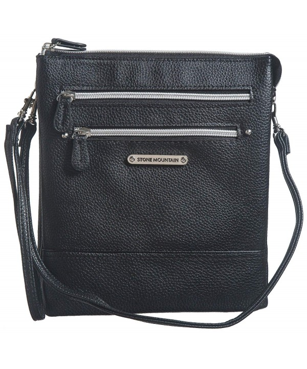 Stone Mountain Leather Crossbody Handbag