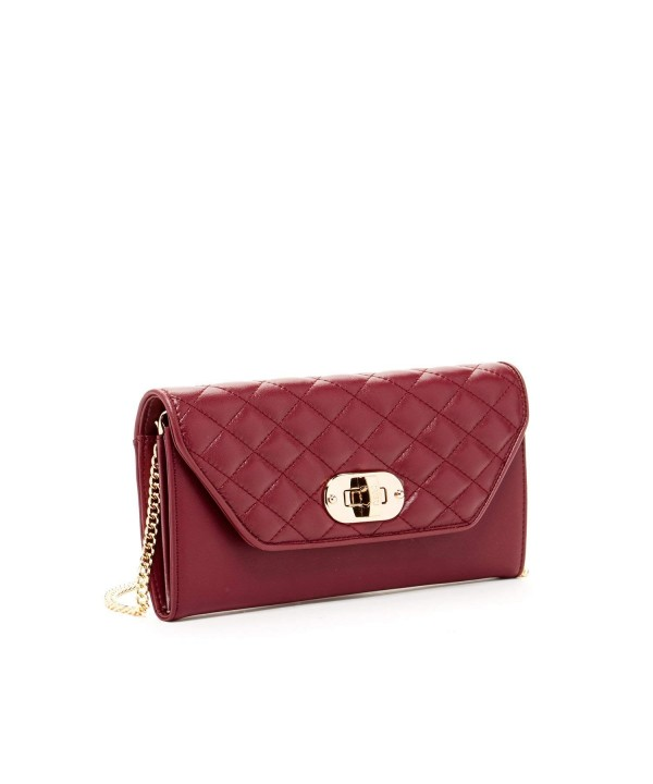 Burgundy Crossover Handbags Shoulder Crossbody