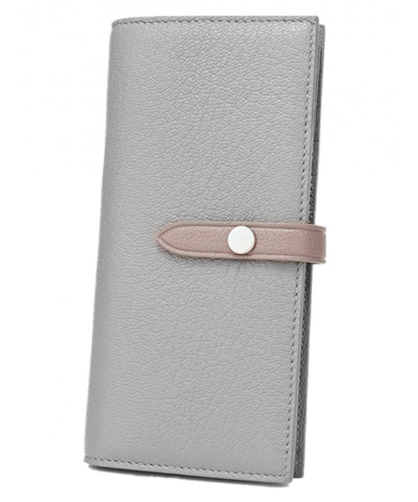 Womens Capacity Leather Trifold Wallet