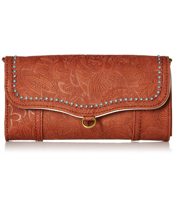 Sakroots Phone Crossbody Wallet Tobacco