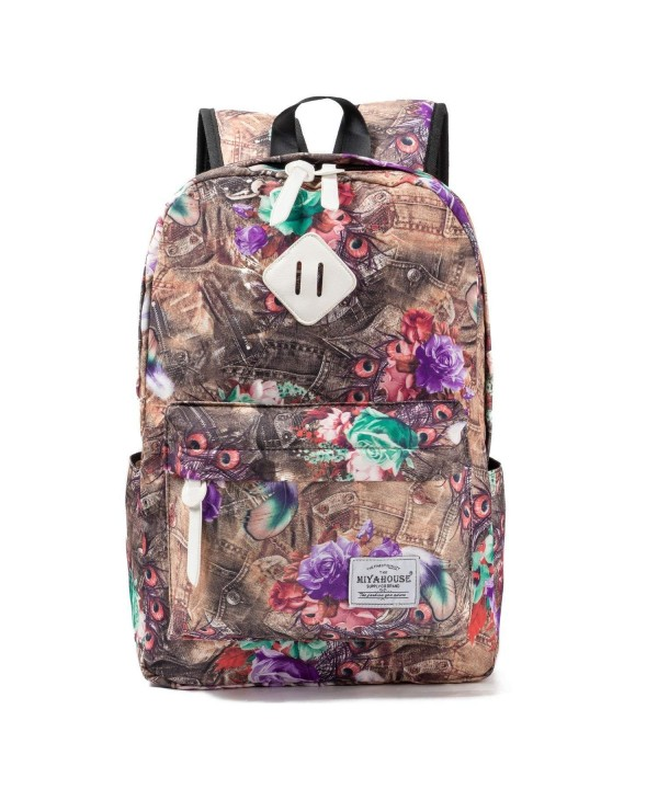 Printed Backpacks Teenage Leisure Backpack