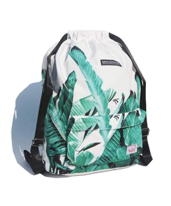 Drawstring Backpack Waterproof Gymbag Floral