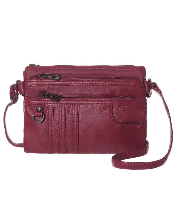 Treble Pockets Crossbody Synthetic Leather