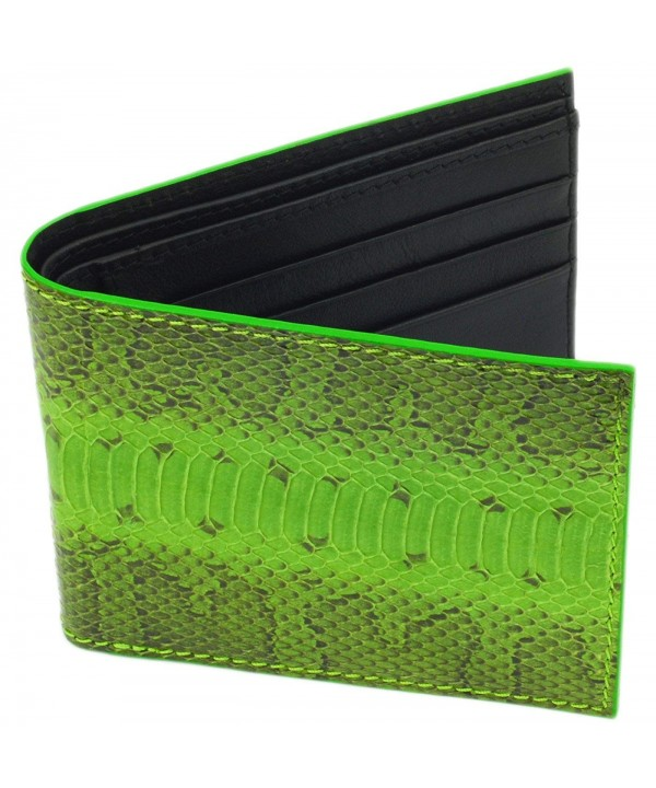 SnakeSkin Leather Wallet BiFold Credit