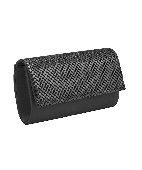 Black Bling Metal Evening Clutch