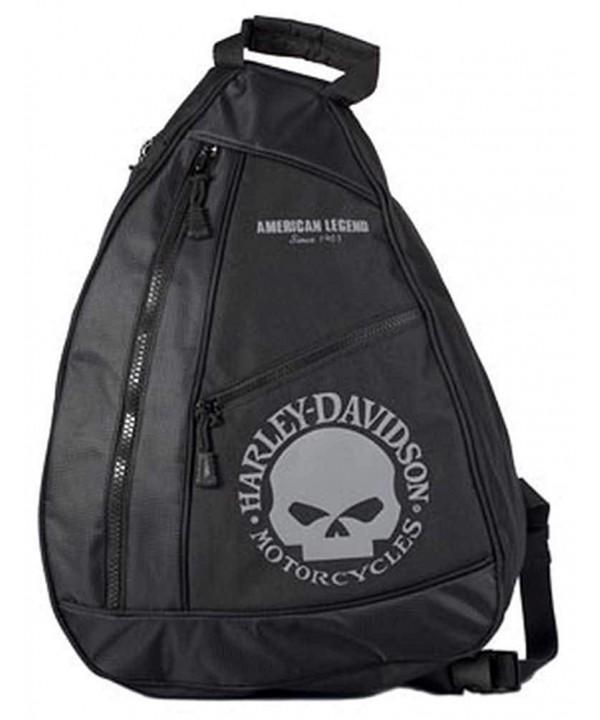 Harley Davidson Skull Sling Backpack BP1957S GRYBLK