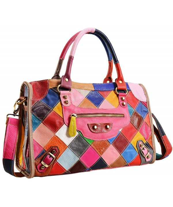 Womens Multi color Shoulder Handbag 2B4001