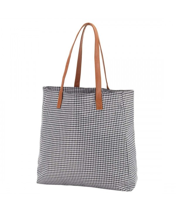 High Fashion Houndstooth Check Tote