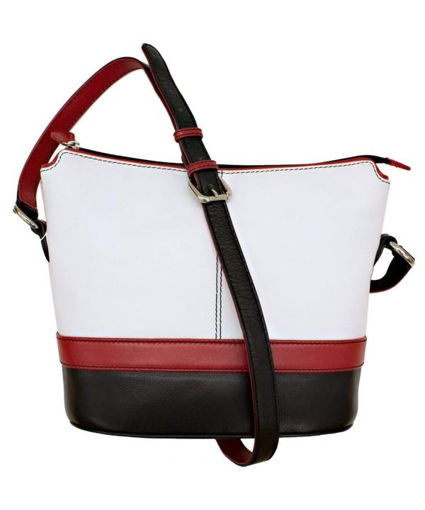 ili Leather Color Shoulder Handbag