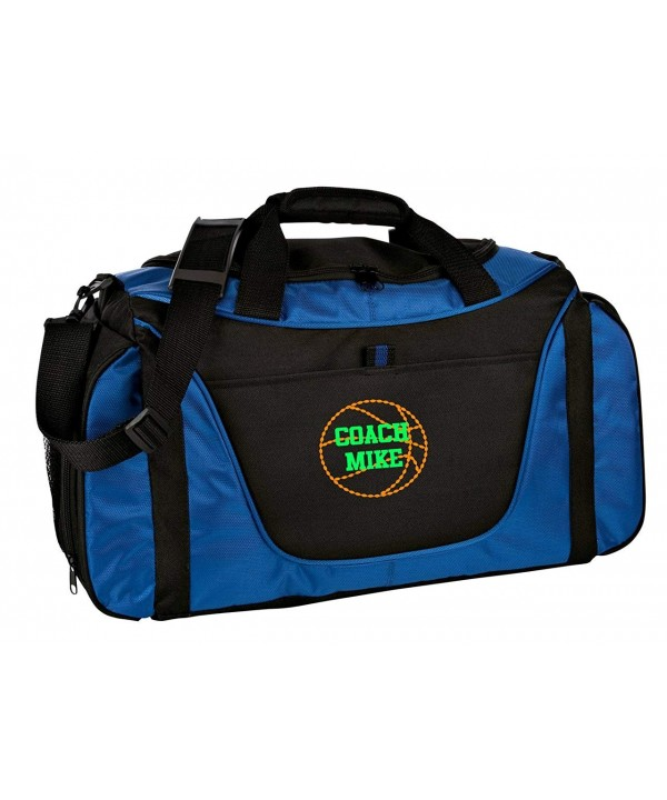 Personalized Basketball Medium Duffel Royal