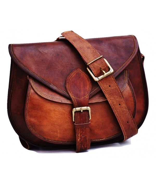 Leather Crossbody Shoulder Satchel Handbag