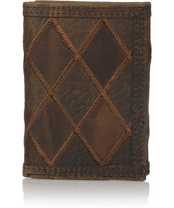 Nocona Mens Brown Patchwork Trifold