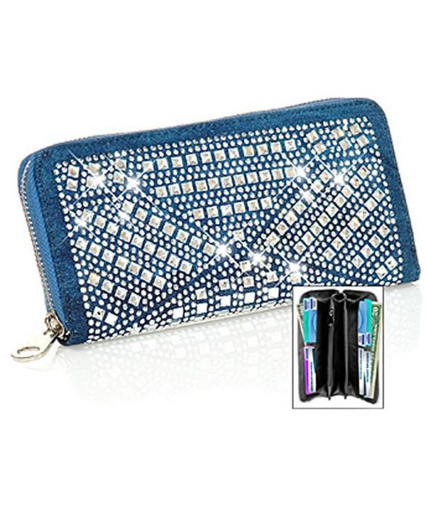 Zzfab Sparkle Wallet Matching Rhinestone