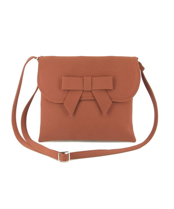 Womens Suede Cross Body Shoulder Handbag