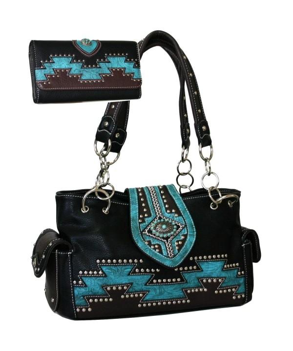 Western Aztec Accent Handbag Wallet