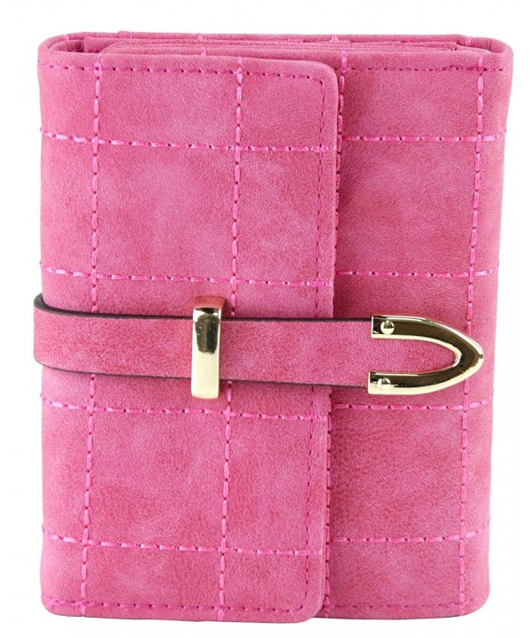 ETIAL Womens Leather Stitched Trifold