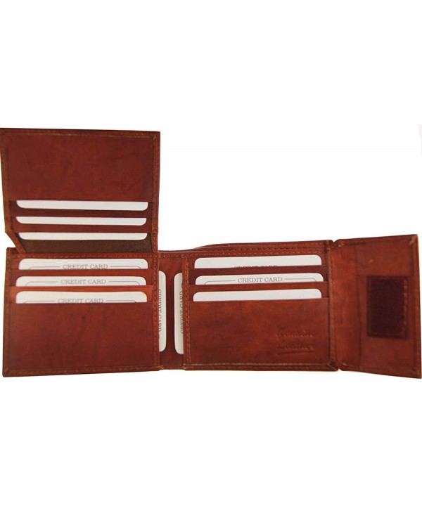 Wallets Leather Bi fold Flip up Burgundy