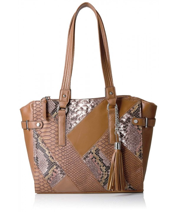 Rosetti Patent Snake Patchwork Tote