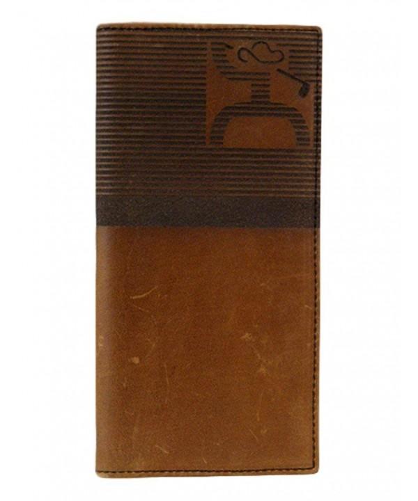 Hooey Brown Wallet Striped 1706137W1