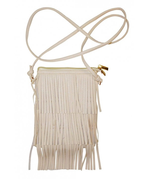 Mini Leather Crossbody Bag White