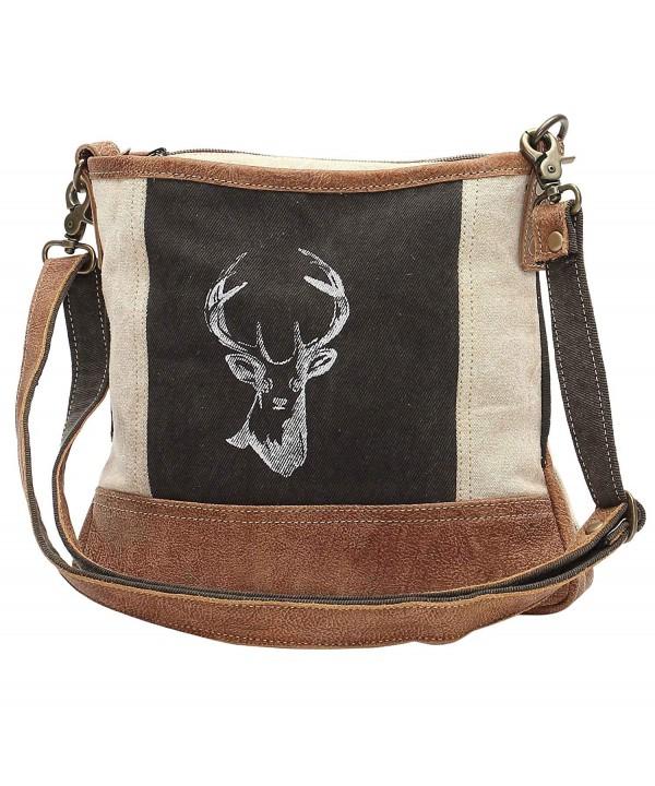 Myra Reindeer Upcycled Crossbody Bag