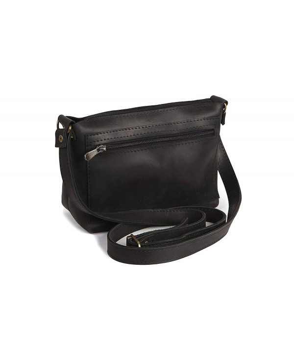 Genuine Leather Vintage Crossbody Clutch
