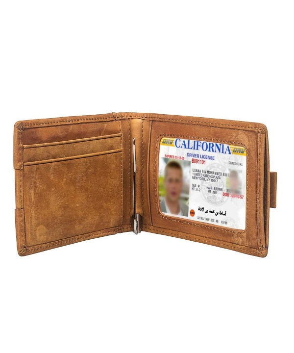Genuine Leather Blocking Minimalist Wallets