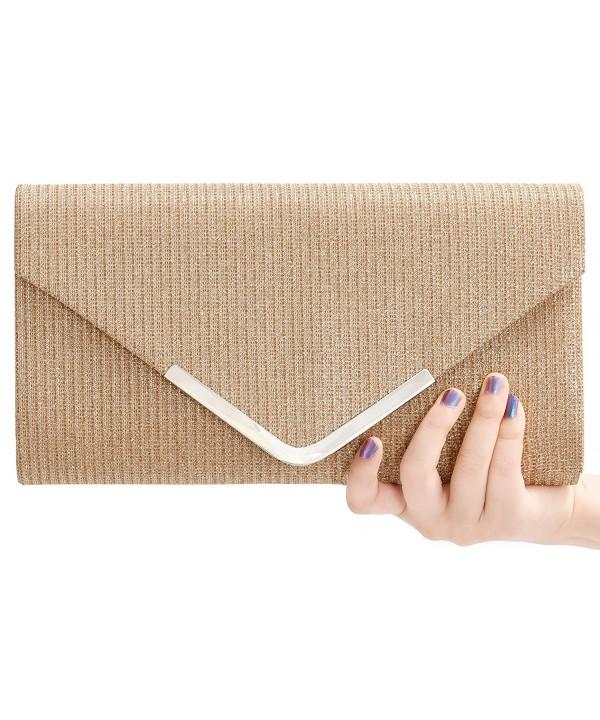 Glitter Triangle Wedding Envelope Champagne