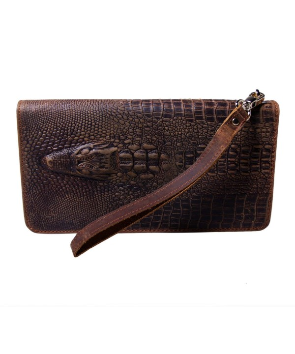 Fioretto Crocodile Wallets Vintage Embossed