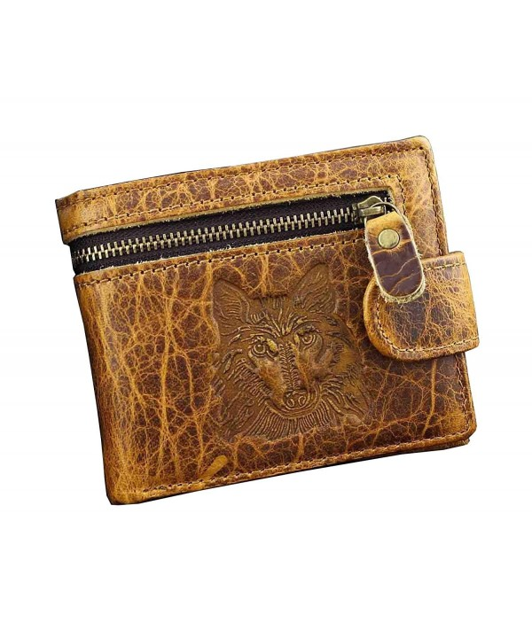 Genuine Leather Wallet Vintage Cowhide