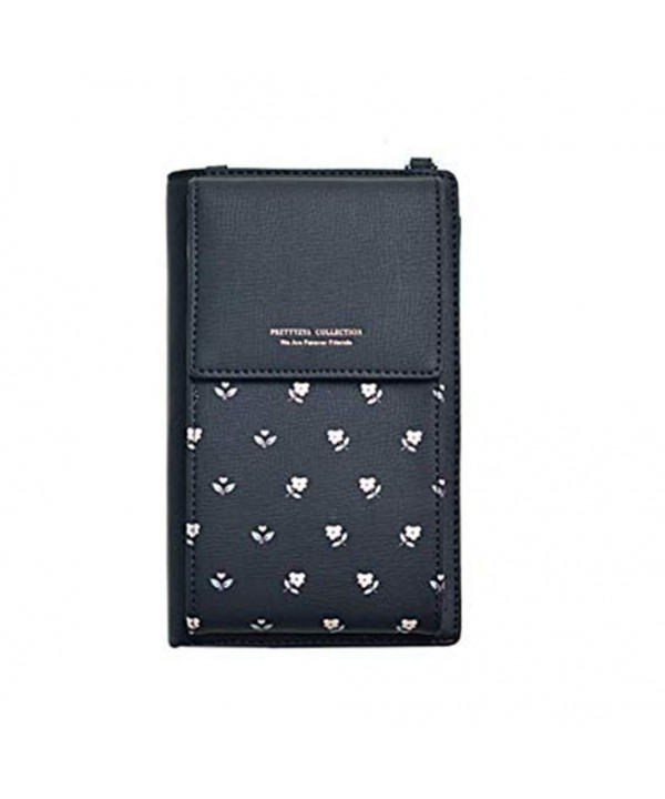 Kukoo Crossbody Wallet Credit Patterned Black