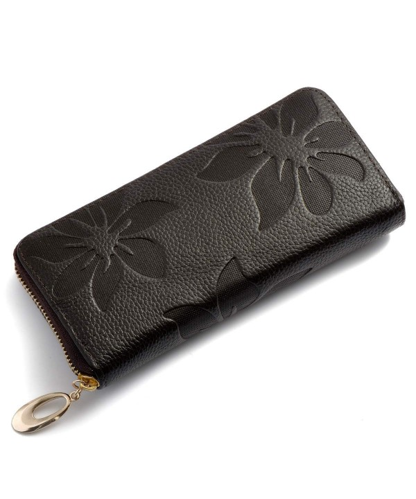 Womens Leather Wallets Capacity Wristlet