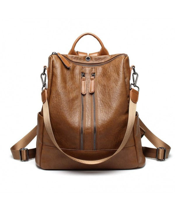 Leather Backpack Casual Lightweight Earphone