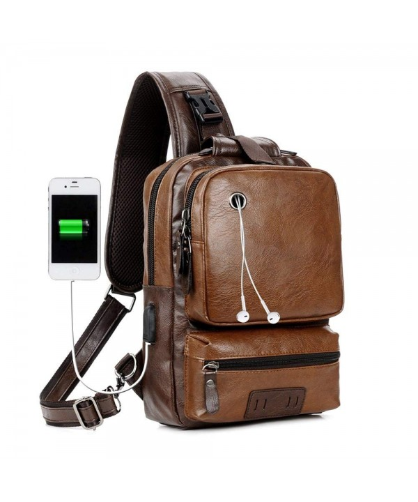 Vintage Backpack Capacity External Earphone