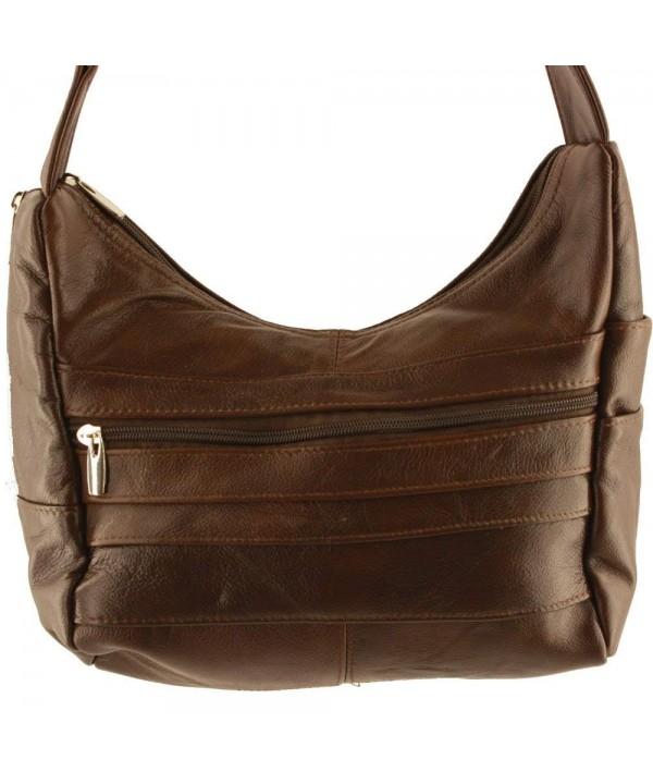 Silver Fever Leather Shoulder Handbag