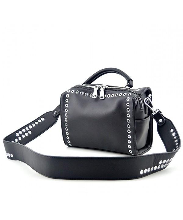 Mn Sue Fashion Womens Rivet Shoulder Handbag