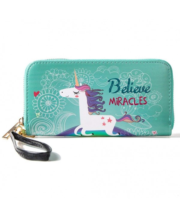 Wristlet Ladies Wallet Around Compartment