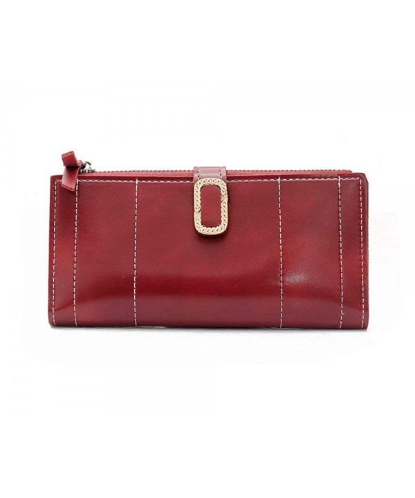 DOFE Clutches Leather Wallets Elegant
