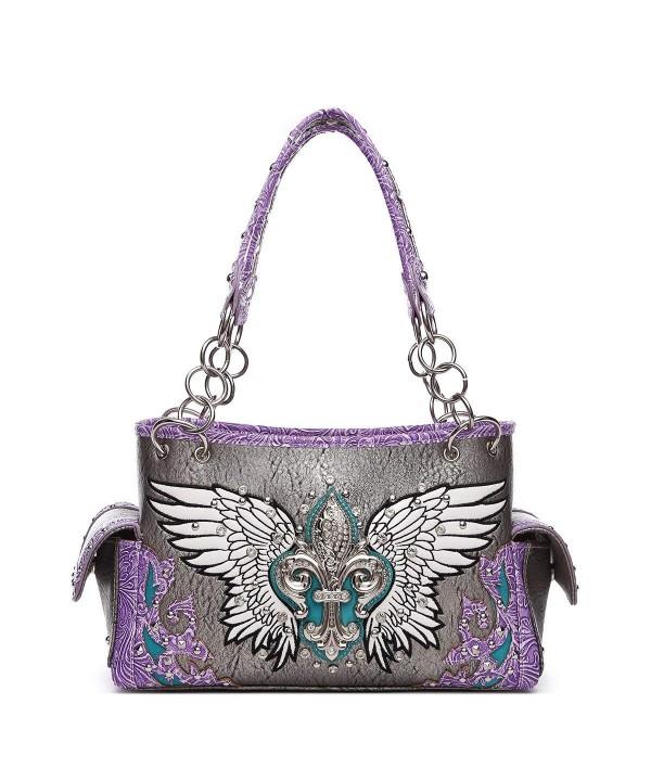Western Handbag Fleur Studded Satchel
