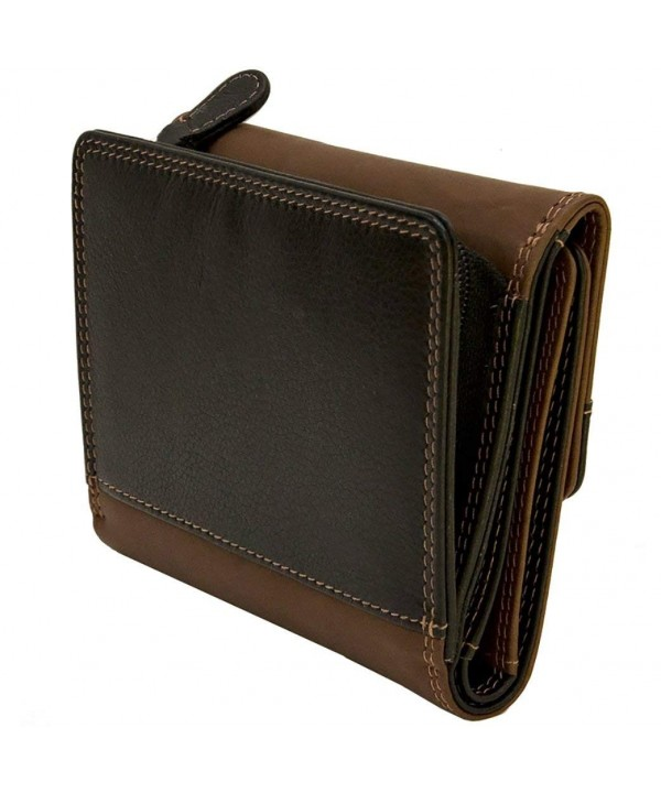 ILI Toffee Black Leather Wallet