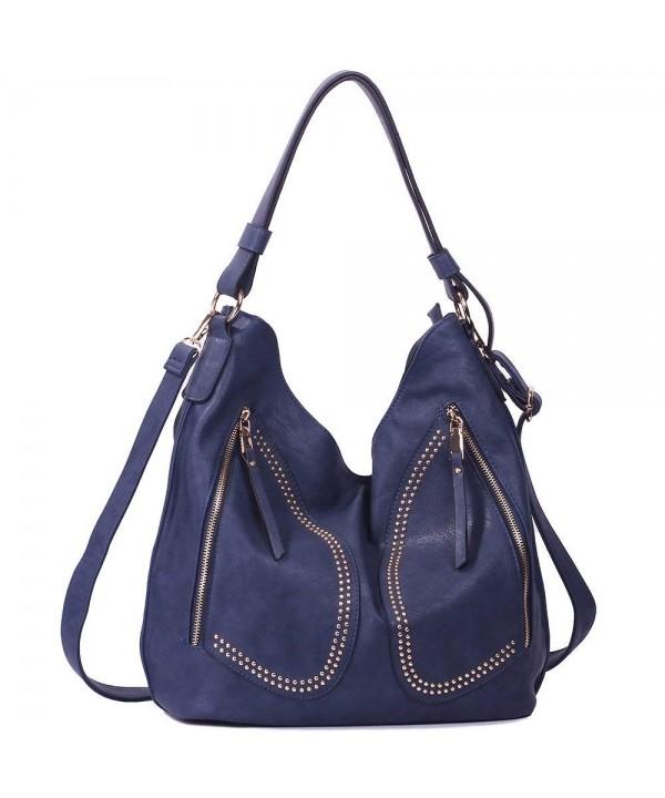 Handbags WISHESGEM Satchel Shoulder Leather