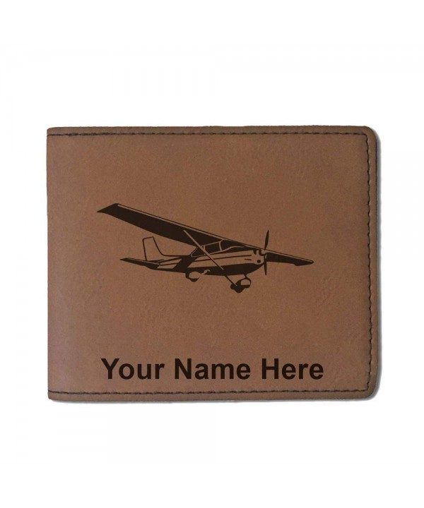 Leather Airplane Personalized Engraving Included