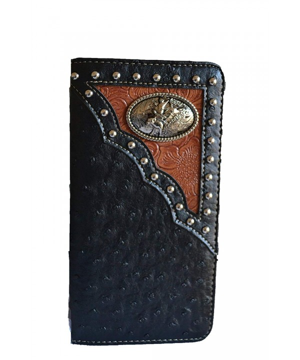 western black concho checkbook wallet