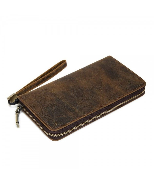 NBSAMENG Genuine Leather Wallet Retro