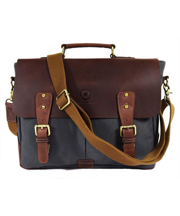 Leather Messenger Compartments Crossbody Aaron