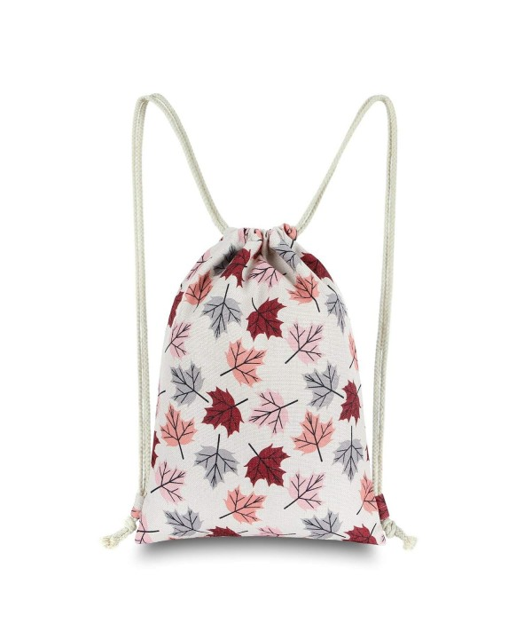 Miomao Drawstring Backpack Flodable Burgundy