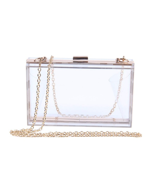 Lanpet Transparent Clutches Shoulder Cross Body