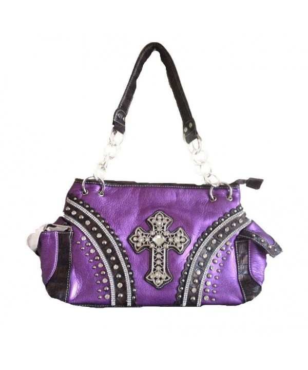 Cross Accent Shoulder HANDBAG PURSE