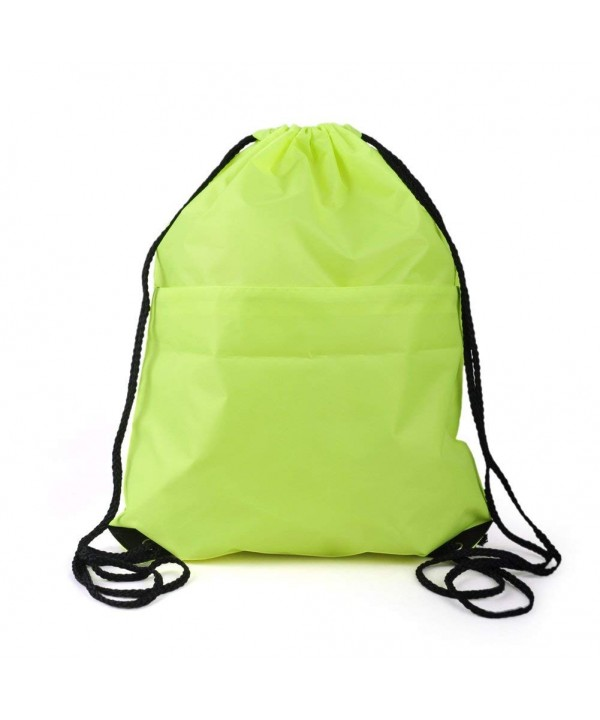 Opromo Polyester Water Repellent Drawstring PALEGREEN